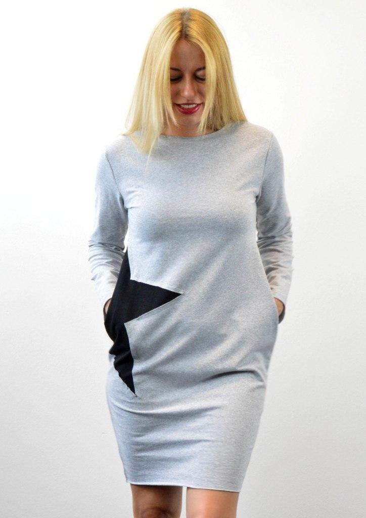 0e2a49ddb9e5 Φόρεμα φούτερ με αστέρι