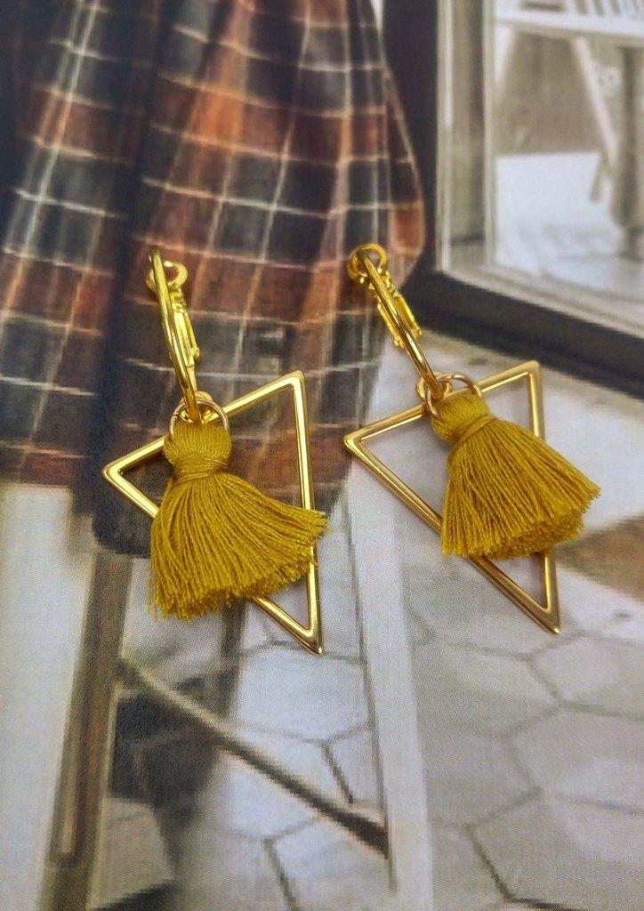 σκουλαρικια-τριγωνο-χρυσο
