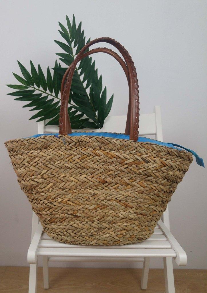 bc134889aa Τσάντα ώμου ψάθινη καλάθι