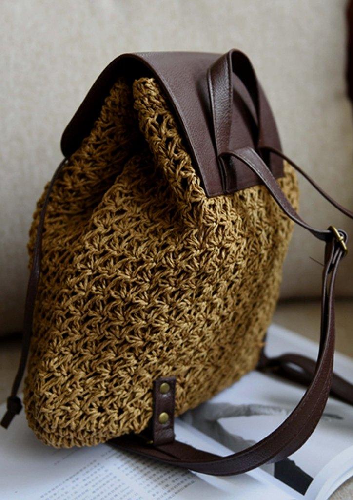 4e0a84c96db Τσάντα ψάθινη σακίδιο   Ψάθινες Τσάντες   Αγόρασε online - Musitsa.com