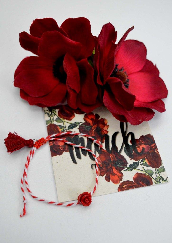 βραχιόλι-μάρτης-λουλούδι