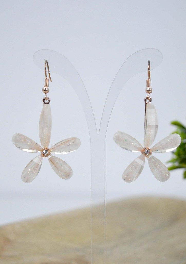 σκουλαρικια-λουλουδι-ρητινη