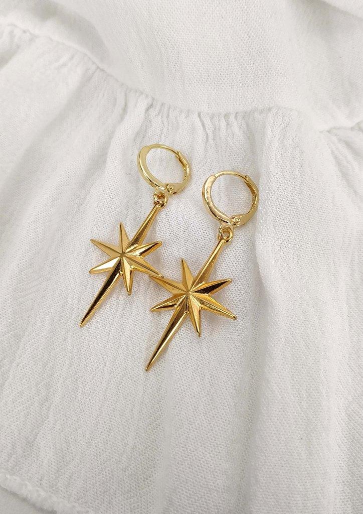 σκουλαρικια-αστερι-χρυσο