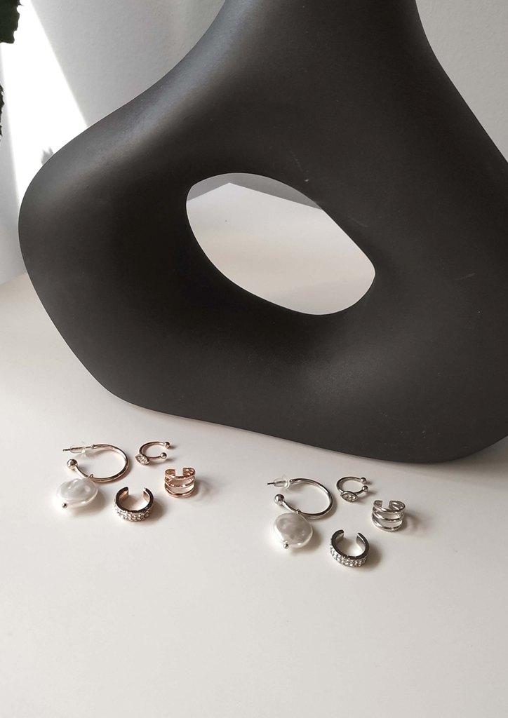 σκουλαρικια-ατσαλι-σετ-ear-cuff